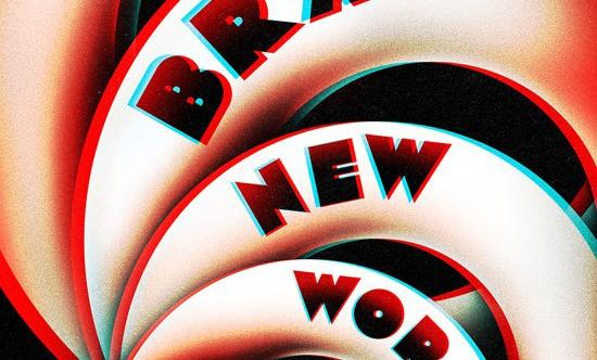 Crop of Brave New Worlds book cover. Spiraling circles with title arching across each circle