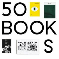 AIGA 50 Books | 50 Covers identity, shirtless man operating a stylized printing press
