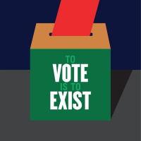 To Vote is to Exist by Milton Glaser, 2016